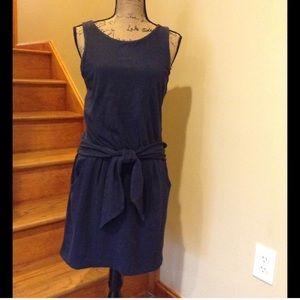 Theory navy blue dress. T-shirt material medium